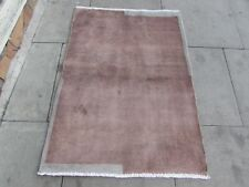 Traditional Hand Made Persian Gabbeh Oriental Wool Grey Brown Small Rug 121x92cm