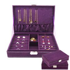 Ring Necklace Bracelet Jewellery Display Box Storage Vintage Case Organiser Xmas