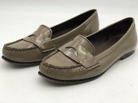 Cole Haan Womens Casual Shoes Tan Brown Patent Leather Penny Loafers Size 10.5
