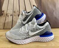 Nike Epic React Flyknit 2 Running Shoe White/Blk/Racer Blue BQ8928-102 Men Sz 14