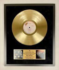 Boyz II Men - II Vinyl Gold Metallized Record In Frame Display