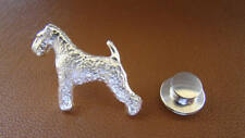 Small Sterling Silver Lakeland Terrier Standing Study Lapel Pin
