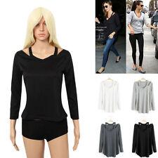 Unbranded Waist Length Cotton V Neck Tops & Shirts for Women