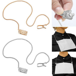 Unisex Napkin Clip Holder Clip Chain Bib Cord for Adult Elderly Dining 40cm