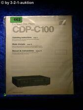 Sony Bedienungsanleitung CDP C100 CD Player  (#0662)