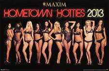 MAXIM HOMETOWN HOTTIES 13 2013 NEW PRINT POSTER 22 X 34 Box 2