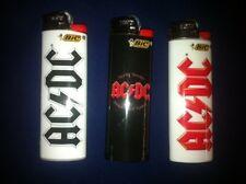 3 AC DC Rock Band Bic Lighters ( REGULAR SIZE AC/DC )