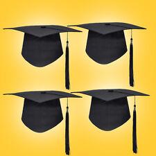Mortar Board Hat Adults Teacher Student College Graduation Cap Costume Black Hat