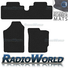 Toyota Yaris 2006 - 2011 Black Floor Rubber Fully Tailored Car Mats 3mm 3pc Set