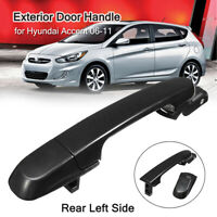 Gloss Outside Exterior Door Handle Rear Left Side For Hyundai Accent
