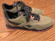 Reebok Alicia Keys Freestyle Classic Women's Green Pink Black Sneaker Shoes Sz 6