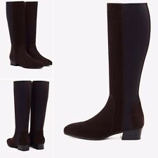 AQUATALIA Flore Brown Suede Leather Knee High Stretch  Boots Sz 8,5 NEW $550
