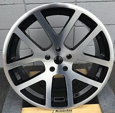 22'' SRT 10 Wheels Black Machine Tires Chrysler 300 Charger Magnum Challenger