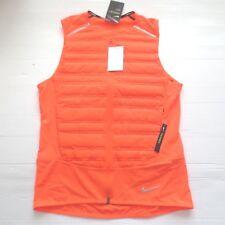 Nike Men AEROLOFT Padded Vest - 859272 - Orange 809 - Size M -  NWT
