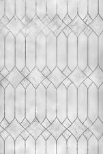 Diamonds 2'x3' Etched Glass Privacy Static Cling Window Film White Door Decor