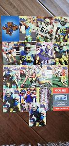1998 UCLA BRUINS TEAM ISSUE FOOTBALL CARD SET MCNOWN ERROR & CORRECT FARRIS SGA