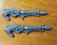 Warhammer 40k Dark Eldar Drukhari Bits: Ravager Side Gun Disintegrators Set