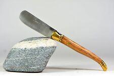 Laguiole Bougna couteau a beurre manche Teck mitres laiton neuf 6311 M