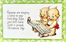 Kewpies Christmas Postcard Singing A Carol So Gay Mint Condition Rare! Shackman