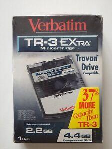 Verbatim Travan-3 / QIC-Wide TR3/TR-3 Extra Data Tape/Cartridge 2.2/4.4GB NEW