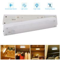PIR Sensor Nachtlicht Küche Unterbauleuchte Schrank Lampe Regal Beleuchtung 20LM