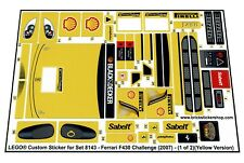 Replica Pre-Cut Sticker for Lego®Racers Set 8143 - Ferrari F430 Challenge(2007)