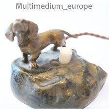 Vienna bronze bell ringer push button sausage dog Klingel Knopf Dackel Hund
