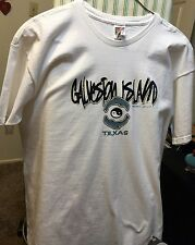 "Fruit of the Loom Adult's ""Galveston Island"" in TEXAS T-Shirt Size XXL White"