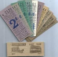 Tram Tickets - Liverpool Last Tram Week 1957 Punch tickets (11)