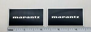 Marantz Speaker Badge Logo Imperial Style Custom Made Aluminum Pair Free Ship