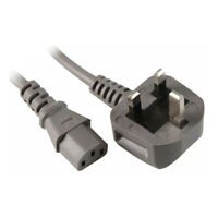 Grey Power Cable Plug Compatible with Xbox 360 Power Brick Adapter - No Notch