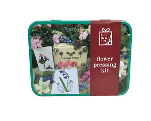 Flower Pressing Kit in a handy tin - make greetings cards & pictures