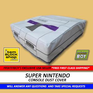 SNES Super Nintendo Model 1 Console System Dust Cover VINYL