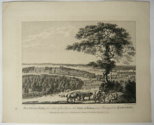 Gravure XVIIIe MICHAEL ANGELO ROOKER 1775 SANDBY Hackwood Park Bolton Hampshire