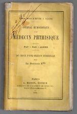 TROIS MOIS D'HIVER A ALGER 1876 JOURNAL D'UN MEDECIN PHTISIQUE RARE ENVOI DAX