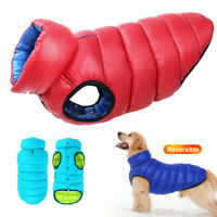 Dog Coats for Large Dogs Winter with Harness Hole Pet Clothes Puffer Down Jacket