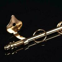 1:12 Miniature Curtain Rod Mini Golden Exquisite Doll house DIY Decor Acces O7D5