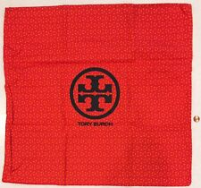 NEW XL Tory Burch Logo Cotton Canvas Bag ~ Drawstring Storage Laundry Lingerie