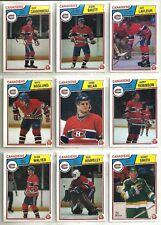 1983-84 O-Pee-Chee Hockey 20-card Montreal Canadiens Team Set  Charbonneau RC