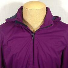 Brooks Brothers Sport Long Golf Jacket Full Zip Hidden Hood Mesh Lined Pockets