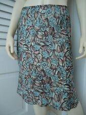 ANN TAYLOR LOFT Sz 6P Skirt Poly Straight Flounce Hem Floral Print Lined SASSY!