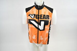 Brand New Verge V-Gear Shell Vest Cycling Wind Vest Men's XL Orange/Black