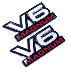 Dodge V6 Magnum Door Fender Emblem Ram Dakota Durango Van 2pc Nameplate Badge