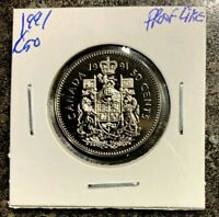 CANADA 1991 50 CENTS PROOF LIKE- FROM RCM SET!