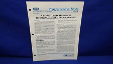 HP 8566B/8568B/MODELS 216/226/236-99 PROGRAMMING NOTE AUGUST 1984
