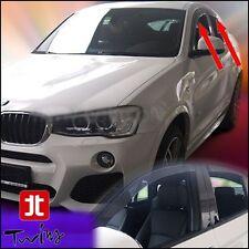 Set 4 Déflecteurs de vent pluie air teintées pour BMW X4 F26 avant + arrières