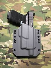 Battleship Gray Kydex Holster for Glock 19 23 Threaded Barrel Surefire XC1