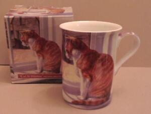 Gorgeous Cat at Window Ginger Cat bone china Mug, boxed, NEW