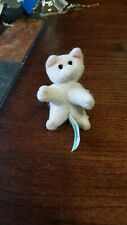 "Pound Purries little stuffed white cat, 3"" long. Very cute."
