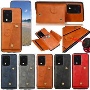 Fashion Support Stand Panzer Shockproof  PU Leather Card Pocket Cover Lot Case